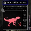 Jurassic Park Walking T Rex Decal Sticker Pink Emblem 120x120