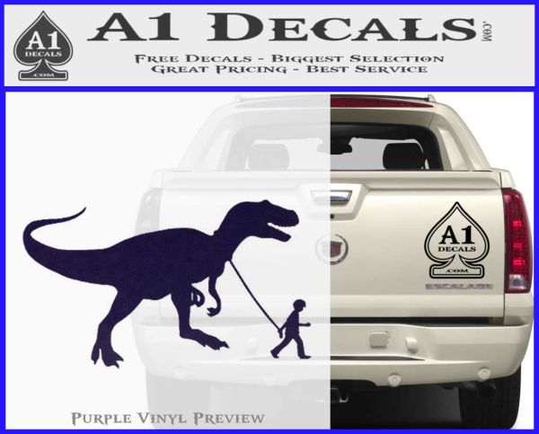 Jurassic park walking t rex decal sticker purpleemblem logo 120x97