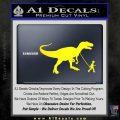 Jurassic Park Walking T Rex Decal Sticker Yellow Laptop 120x120
