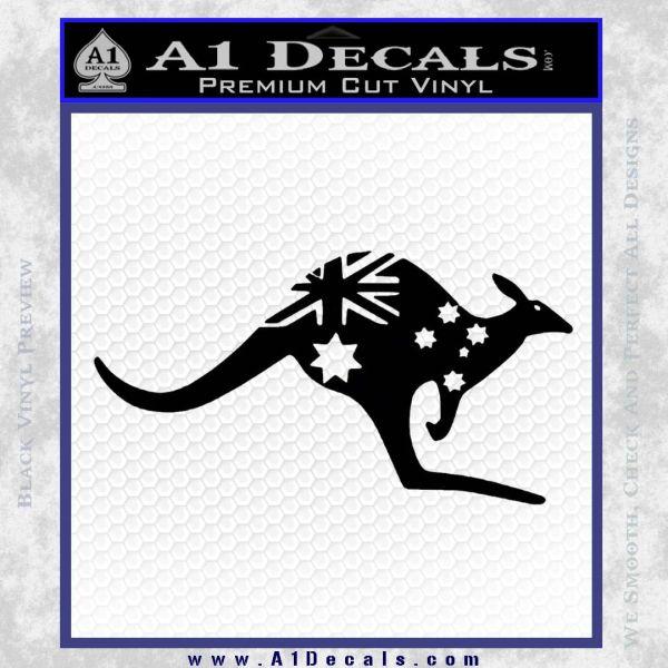 Kangaroo Australia Decal Sticker Flag A Decals - Vinyl decals australia