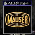 Mauser Firearms Decal Sticker Gold Vinyl 120x120