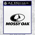 Mossy Oak Decal Sticker Black Vinyl 120x120