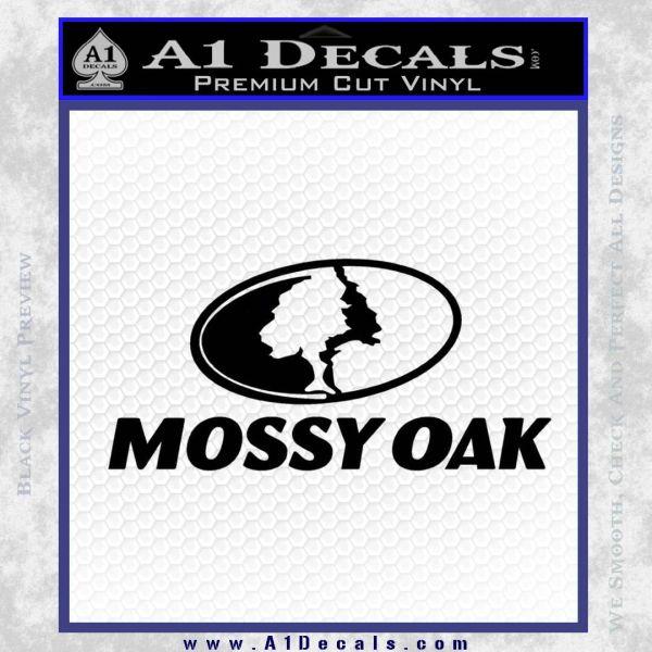 Mossy Oak Decal Sticker Black Vinyl