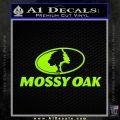 Mossy Oak Decal Sticker Lime Green Vinyl 120x120
