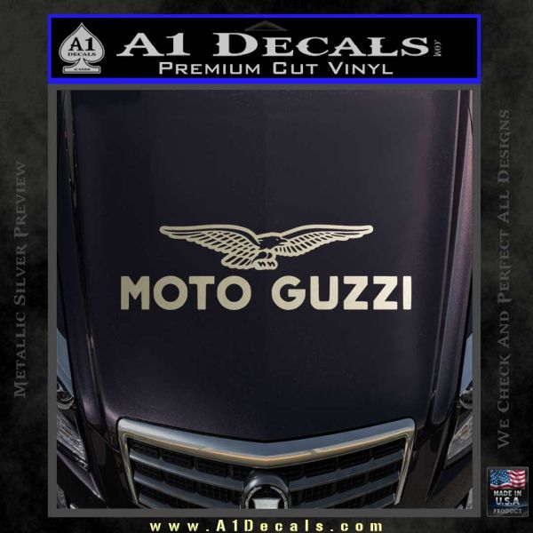 Moto Guzzi Stacked Decal Sticker 187 A1 Decals
