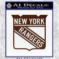 New York Rangers Decal Sticker BROWN Vinyl 120x120
