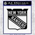 New York Rangers Decal Sticker Black Vinyl 120x120