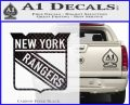New York Rangers Decal Sticker Carbon FIber Black Vinyl 120x97