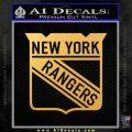 New York Rangers Decal Sticker Gold Vinyl 120x120
