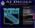 New York Rangers Decal Sticker Light Blue Vinyl 120x97