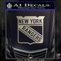 New York Rangers Decal Sticker Metallic Silver Emblem 120x120