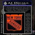 New York Rangers Decal Sticker Orange Emblem 120x120