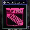 New York Rangers Decal Sticker Pink Hot Vinyl 120x120