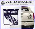 New York Rangers Decal Sticker PurpleEmblem Logo 120x97