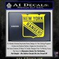New York Rangers Decal Sticker Yellow Laptop 120x120