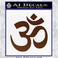 Om Symbol Decal Sticker BROWN Vinyl 120x120