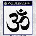 Om Symbol Decal Sticker Black Vinyl 120x120