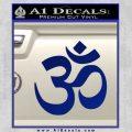 Om Symbol Decal Sticker Blue Vinyl 120x120