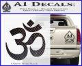 Om Symbol Decal Sticker Carbon FIber Black Vinyl 120x97
