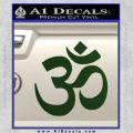 Om Symbol Decal Sticker Dark Green Vinyl 120x120