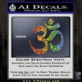 Om Symbol Decal Sticker Glitter Sparkle 120x120