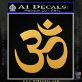 Om Symbol Decal Sticker Gold Vinyl 120x120