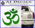 Om Symbol Decal Sticker Green Vinyl Logo 120x97
