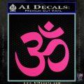 Om Symbol Decal Sticker Pink Hot Vinyl 120x120