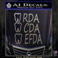 RDA CDA EFDA Dental Dentist Decal Sticker Carbon FIber Chrome Vinyl 120x120