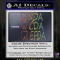 RDA CDA EFDA Dental Dentist Decal Sticker Glitter Sparkle 120x120