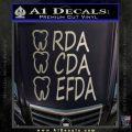 RDA CDA EFDA Dental Dentist Decal Sticker Metallic Silver Emblem 120x120