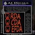 RDA CDA EFDA Dental Dentist Decal Sticker Orange Emblem 120x120