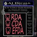 RDA CDA EFDA Dental Dentist Decal Sticker Pink Emblem 120x120