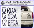 RDA CDA EFDA Dental Dentist Decal Sticker PurpleEmblem Logo 120x97