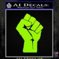 Resistance Fist Decal Sticker Power Lime Green Vinyl 120x120