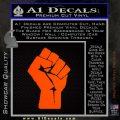 Resistance Fist Decal Sticker Power Orange Emblem 120x120