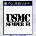 Semper Fi Decal Sticker USMC Black Vinyl 120x120