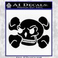 Skull and Cross Bones Stylized Decal Sticker Black Vinyl Black 120x120