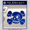 Skull and Cross Bones Stylized Decal Sticker Blue Vinyl Black 120x120