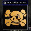 Skull and Cross Bones Stylized Decal Sticker Gold Metallic Vinyl Black 120x120