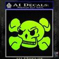 Skull and Cross Bones Stylized Decal Sticker Neon Green Vinyl Black 120x120