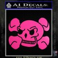 Skull and Cross Bones Stylized Decal Sticker Neon Pink Vinyl Black 120x120