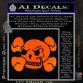 Skull and Cross Bones Stylized Decal Sticker Orange Emblem Black 120x120