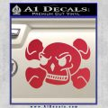 Skull and Cross Bones Stylized Decal Sticker Red Vinyl Black 120x120