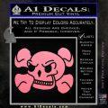 Skull and Cross Bones Stylized Decal Sticker Soft Pink Emblem Black 120x120
