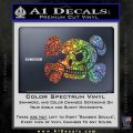 Skull and Cross Bones Stylized Decal Sticker Spectrum Vinyl Black 120x120