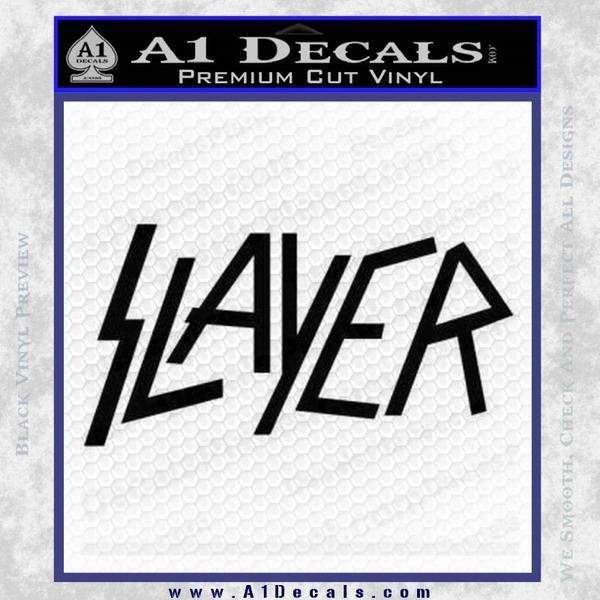 Slayer decal sticker black vinyl black