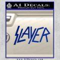 Slayer Decal Sticker Blue Vinyl Black 120x120