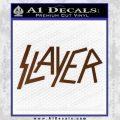 Slayer Decal Sticker Brown Vinyl Black 120x120