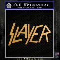Slayer Decal Sticker Gold Metallic Vinyl Black 120x120